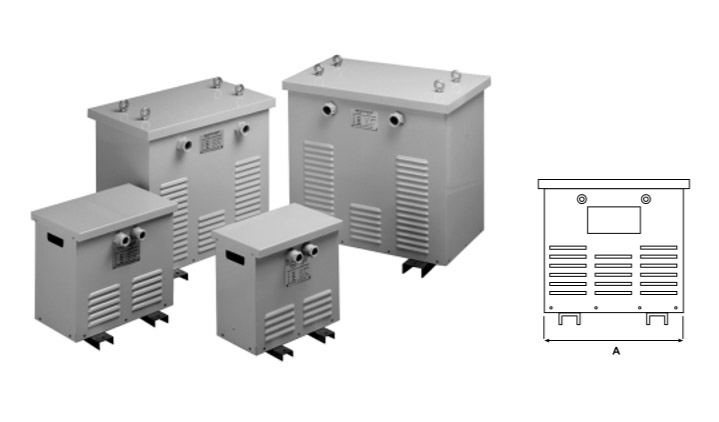 Air cooled three phase autotransformer