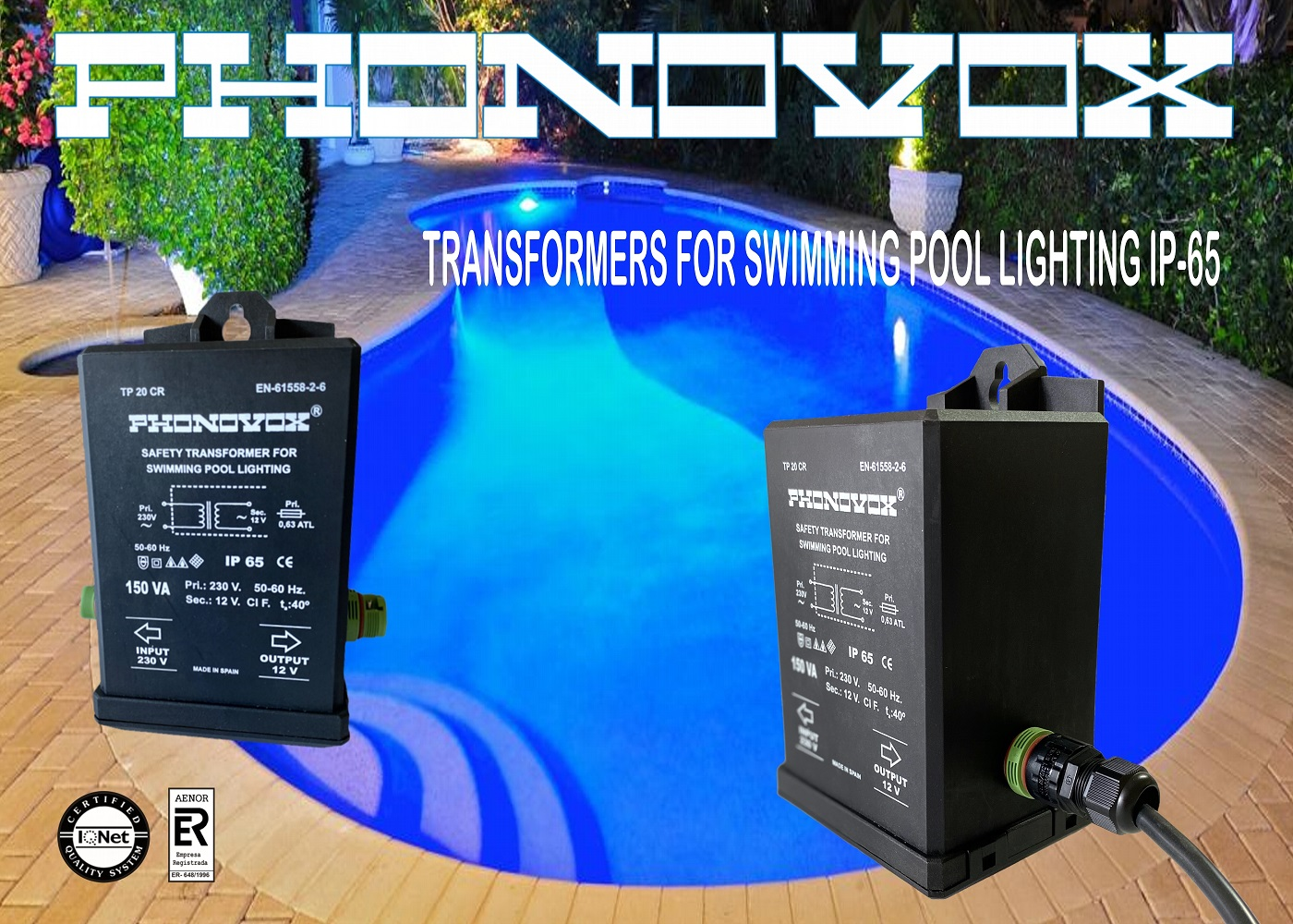 safety transformers for swimming pool lighting ip65