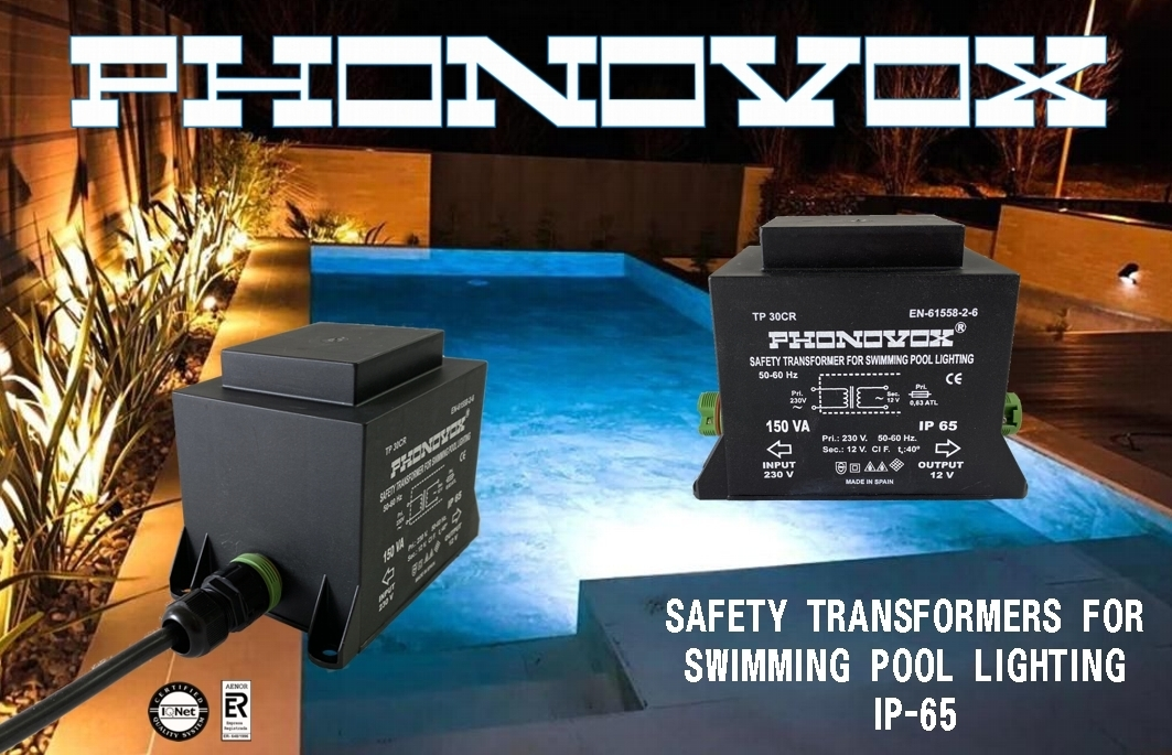 safety transformers for swimming pool lighting ip-65
